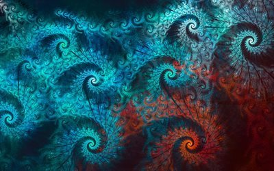 fractals, art, spiral, ornaments, patterns