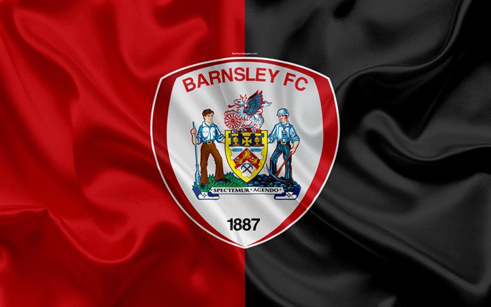 Download Wallpapers Barnsley FC, Silk Flag, Football
