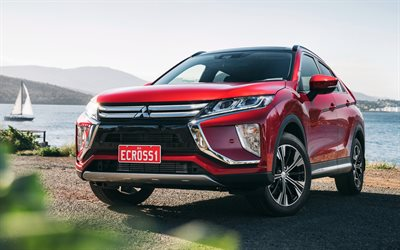 Mitsubishi Eclipse Cross, 2018, red crossover, Japanese cars, new cars, Mitsubishi