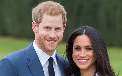 Prince Harry, Meghan Markle, couple in love, portrait