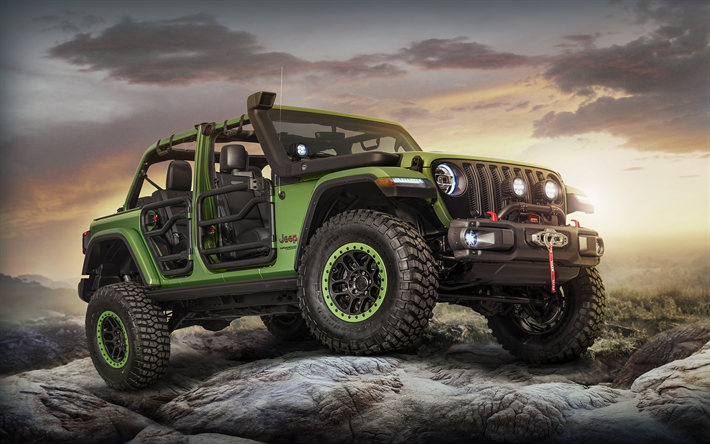 Jeep Wrangler Off Road >> Download Wallpapers Jeep Wrangler Unlimited Rubicon Offroad