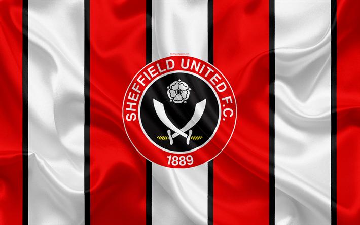 download wallpapers sheffield united fc silk flag emblem