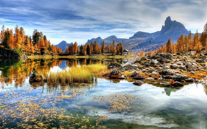 Scarica Sfondi Italia 4k Autunno Lago Montagna Europa Per