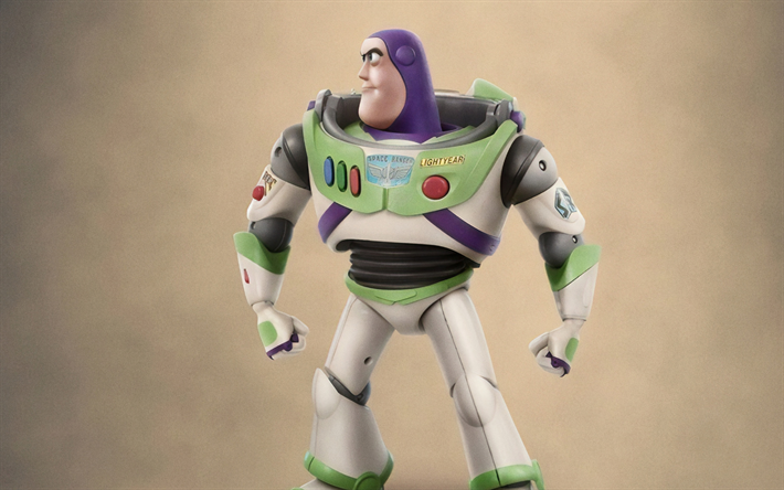 Buzz Lightyear, Toy Story 4, 4k, poster, 2019 movie, 3D-animation