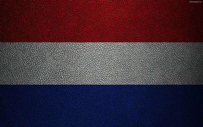 Download Wallpapers Flag Of The Netherlands 4k Leather Texture
