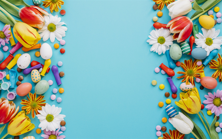 Hintergrundbilder Kostenlos Ostern herunterladen hintergrundbild ostern frühling ostereier blumen
