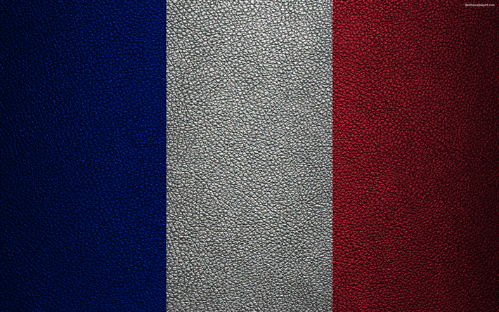 Flag Of France 4k Leather Texture French Europe Flags
