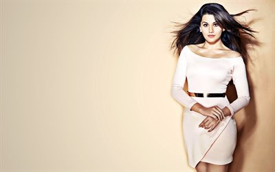 Taapsee Pannu, 2019, white dress, Bollywood, indian celebrity, beauty, indian actress, Taapsee Pannu photoshoot