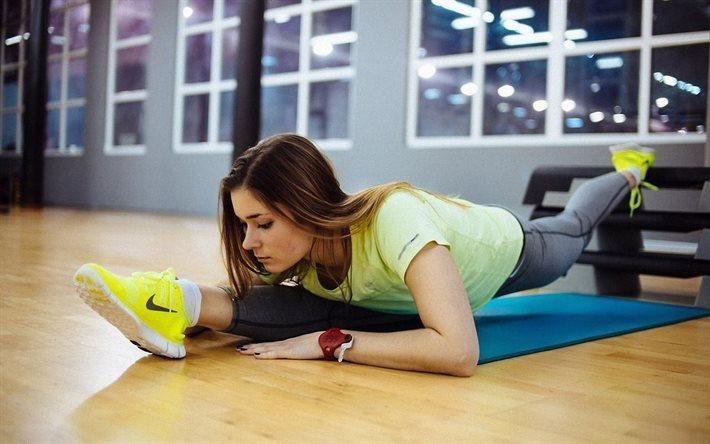 تحميل خلفيات خيوط تجريب اللياقة البدنية ممارسة البنات الصالة الرياضية لسطح المكتب مجانا صور لسطح المكتب مجانا