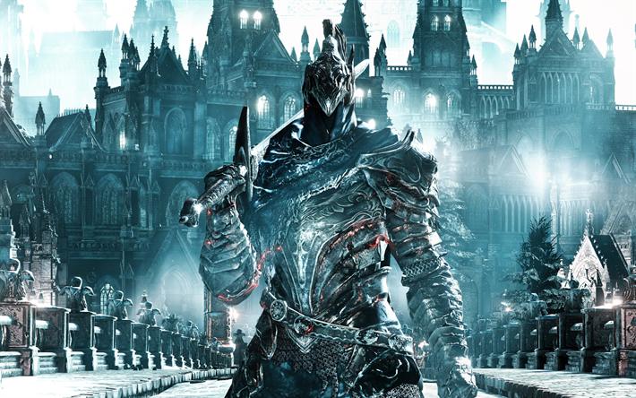 Download wallpapers Knight Artorias, sword, warrior, Dark