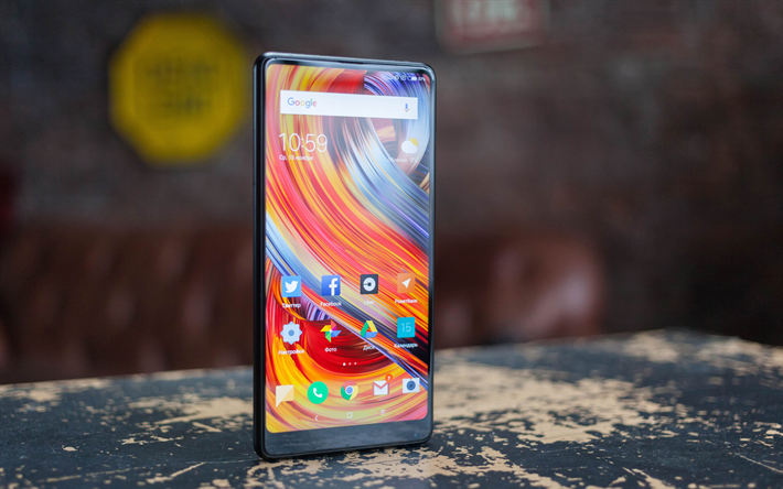 Download Wallpapers Xiaomi Mi Mix 2s 4k Smartphone Mi Mix