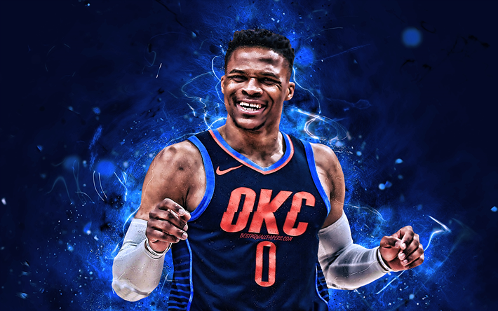 Download Wallpapers Russell Westbrook Okc Basketball Stars