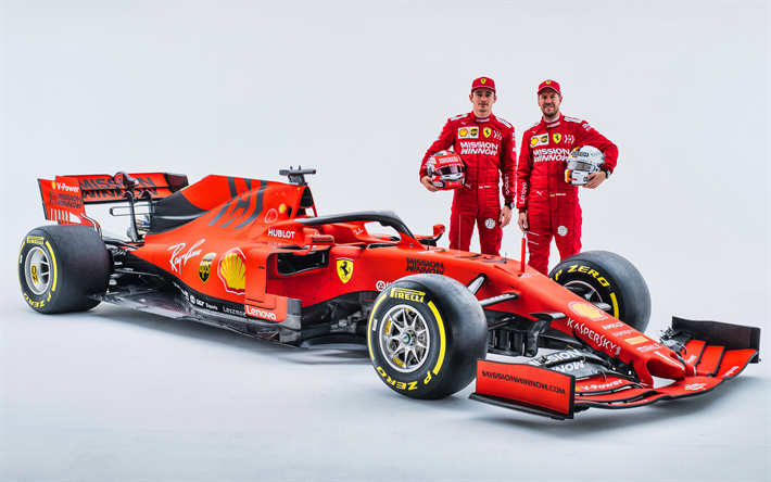 Download Wallpapers 4k Sebastian Vettel Charles Leclerc Ferrari