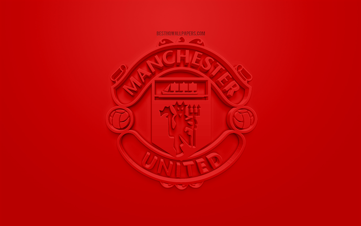 Download Wallpapers Manchester United Fc Creative 3d Logo Red Background 3d Emblem English Football Club Premier League Manchester England 3d Art Football Stylish 3d Logo Manchester Utd For Desktop Free Pictures For