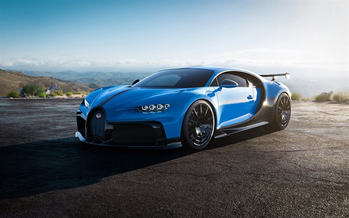 Download Wallpapers Bugatti Chiron Pur Sport 2021 4k Front View Exterior Blue Hypercar New Blue Chiron Tuning Chiron Luxury Cars Bugatti For Desktop Free Pictures For Desktop Free