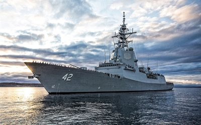 HMAS Sydney, DDG 42, Royal Australian Navy, Australian destroyer, warships, RAN, Hobart class