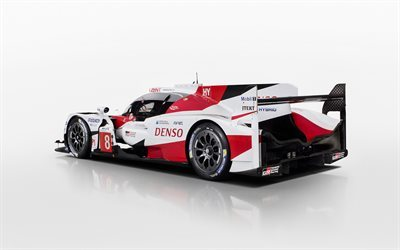 Toyota TS050 Hybrid, 2017, Rear view, racing car, prototype, Le Mans, Toyota