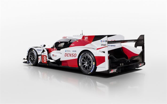 download wallpapers toyota ts050 hybrid 2017 rear view racing car prototype le mans toyota. Black Bedroom Furniture Sets. Home Design Ideas