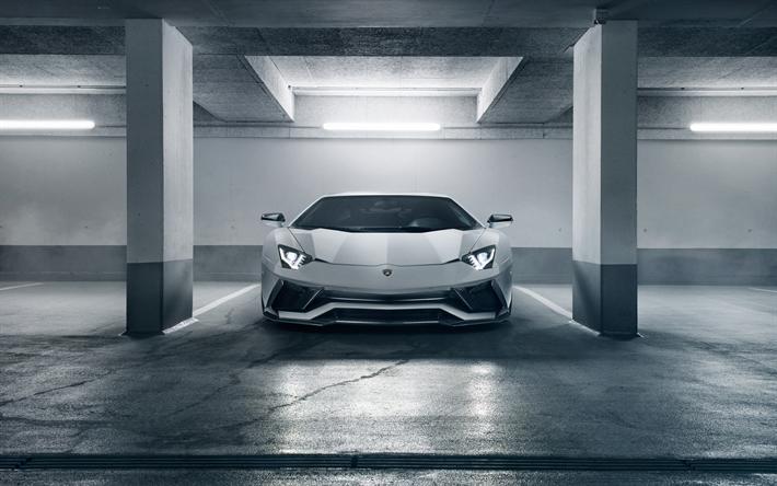 4k, Novitec Torado Lamborghini Aventador S, Parking, 2018 Cars, Supercars,  Tuning