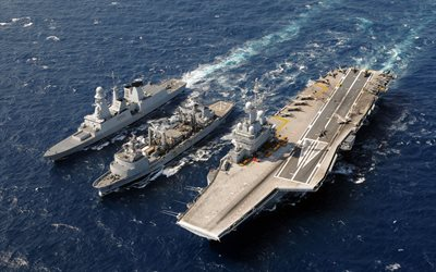 Charles de Gaulle, R91, french aircraft carrier, Marine Nationale, French Navy, French frigate, Forbin, D620, Dassault Rafale M, FS Meuse, A607, Durance-class tanker, french warships, sea, france