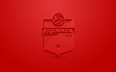Download Wallpapers Fc Emmen Creative 3d Logo Red Background 3d Emblem Dutch Football Club Eredivisie Emmen Netherlands 3d Art Football Stylish 3d Logo For Desktop Free Pictures For Desktop Free