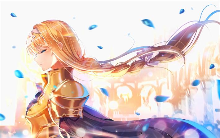 Download Wallpapers Alice Zuberg 4k Artwork Manga Arisu