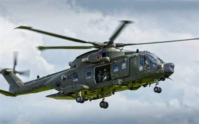 EHI Merlin, EH-101, AgustaWestland AW101, European Helicopter, military deck helicopter, Royal Navy, military helicopters