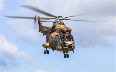 Sud-Aviation SA330 Puma, French military transport helicopter, Puma, carrier aviation, French Navy