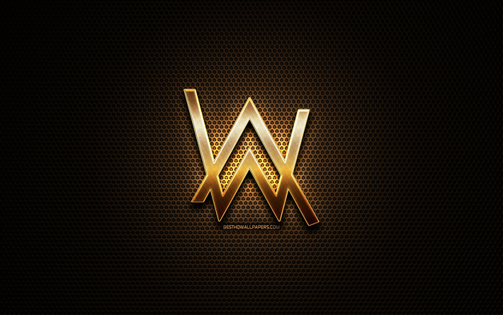 Download Wallpapers Alan Walker Glitter Logo Creative