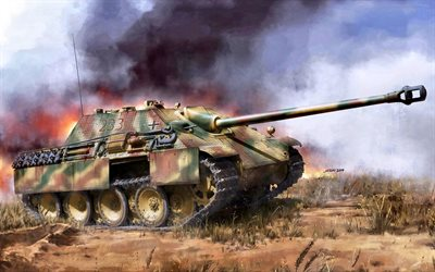 Jagdpanther, German Self-propelled gun, World War II, WW2, SdKfz 173, Wehrmacht