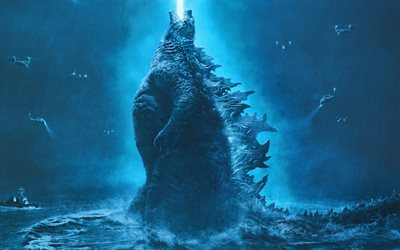 Godzilla King of the Monsters, 4k, poster, 2019 movie, Science fiction