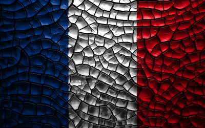 Download Wallpapers Flag Of France 4k Cracked Soil Europe