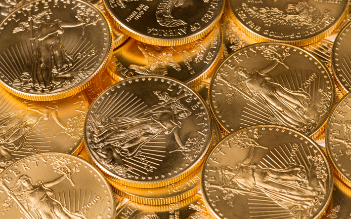 coins texture, American cents, coins, money background, finance concepts