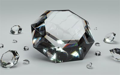 diamonds, 4k, crystals, jewelry, gems, jewellery, close-up, jewelry concepts