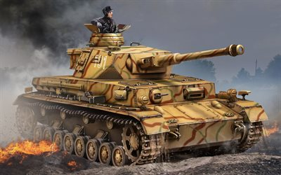 Panzer IV, German battle tank, WWII, armored vehicles, World war II, Wehrmacht