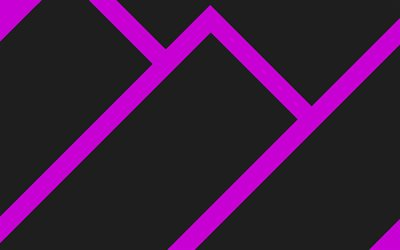 4k, material design, purple and black, lollipop, abstract mountains, geometric shapes, geometry, creative, purple arrows, black backgrounds, abstract art