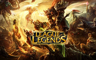 League of Legends logo, une affiche, des jeux en 2020, LoL, œuvres d'art, League of Legends, LoL logo