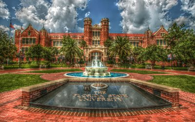 Florida State University, main building, exterior, State University System of Florida, Tallahassee, Florida, USA