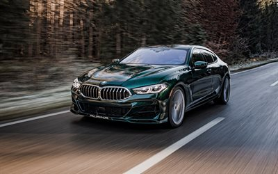 2022, Alpina BMW B8 Gran Coupe, 4k, front view, green coupe, tuning M8 Gran Coupe, new green M8 Gran Coupe, German cars, BMW