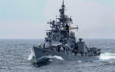 INS Ranvijay, D55, indian warship, Rajput-class destroyer, Indian Navy, warship