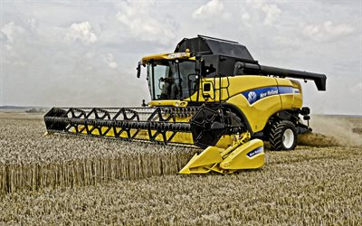 New Holland CX8090, Agricultural machinery, combine harvester, harvesting wheat, wheat field, harvesting concepts, New Holland