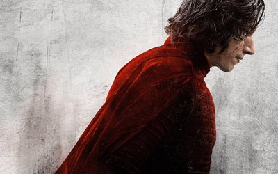 Star Wars, The Last Jedi, 2019, poster, promotional materials, Star Wars characters, Kylo Ren, Adam Driver