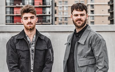 The Chainsmokers, Amerikkalainen EDM-duo, photoshoot, Drew Taggart, Alex Pall, amerikkalainen DJ