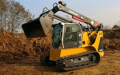 LiuGong 388B CTL, track loader, 2020 excavators, construction machinery, excavator in career, special equipment, construction equipment, LiuGong, HDR
