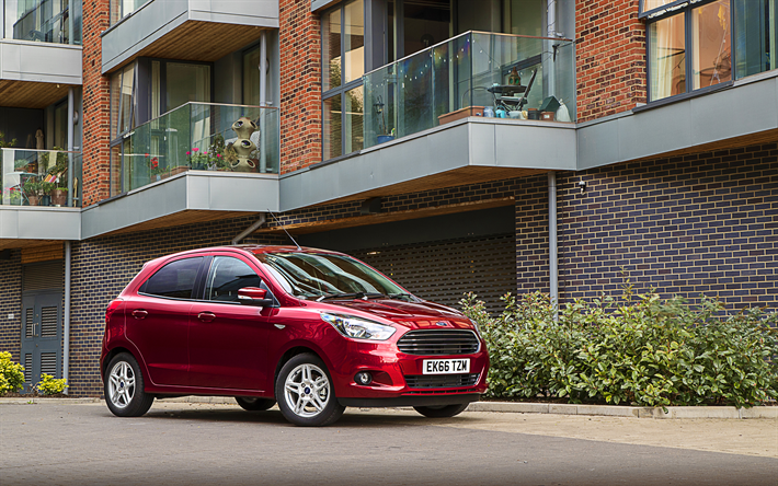 download wallpapers 4k ford ka 2018 cars compact cars. Black Bedroom Furniture Sets. Home Design Ideas