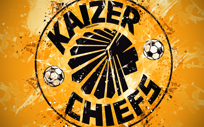 Download Wallpapers Kaizer Chiefs Fc 4k Paint Art Logo Creative South African Football Team South African Premier Division Emblem Orange Background Grunge Style Johannesburg South Africa Football For Desktop Free Pictures For