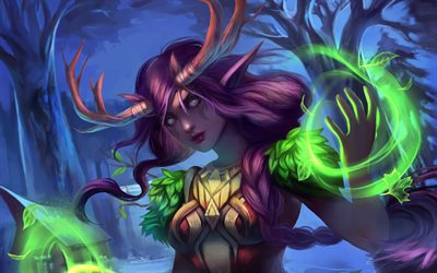 Night Elf, World of Warcraft, art, WoW