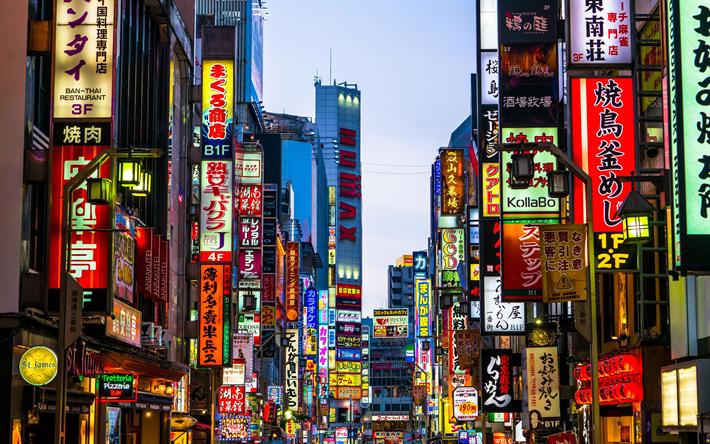 Download wallpapers Tokyo, 4k, Shinjuku, street, modern ...