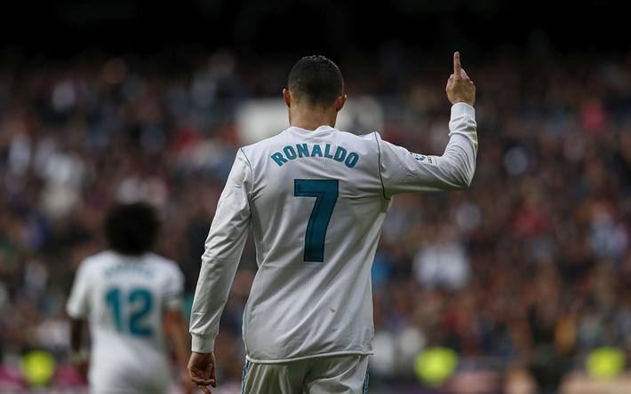 Download Wallpapers 4k Cristiano Ronaldo Joy Footballer Cr7 Soccer Ronaldo Real Madrid La Liga Galacticos For Desktop Free Pictures For Desktop Free