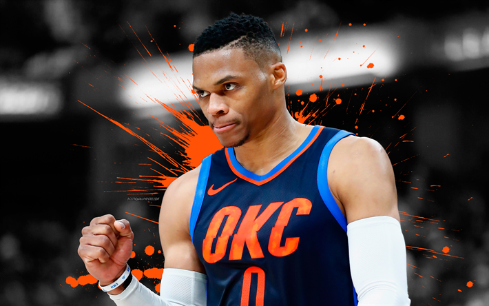 Download Wallpapers Russell Westbrook Oklahoma City Thunder 4k